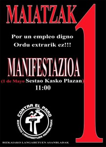 97FM irratia: La  Coordinadora  de  personas  desempleadas  de  Bizkaia  ocupa  las  oficinas  de  Lanbide  en  Las  Arenas