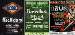 La mirada negra: Entrevistas a Rock Dam, Porretas y Dioses del Metal Fest