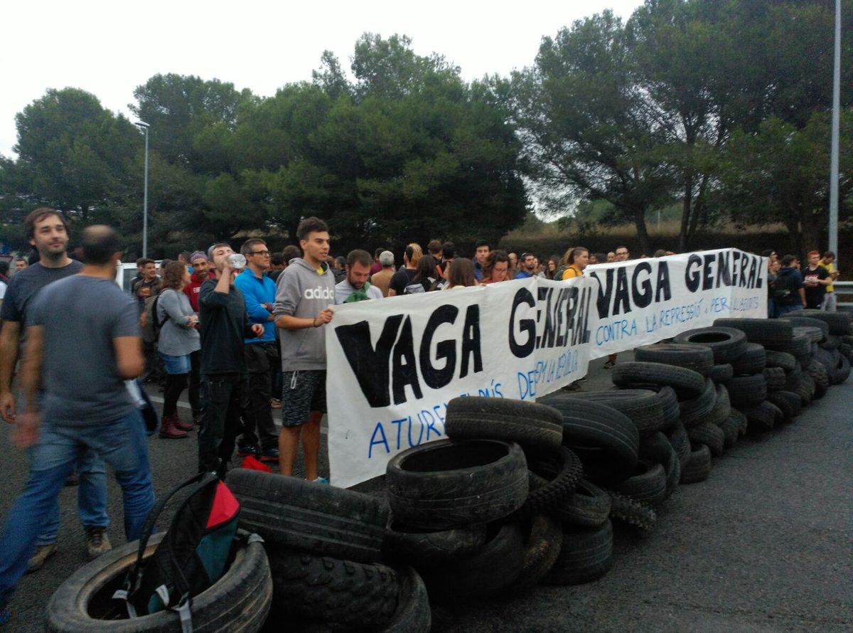 #bidegorritik: Greba Orokorra eta erreferenduma Katalunian