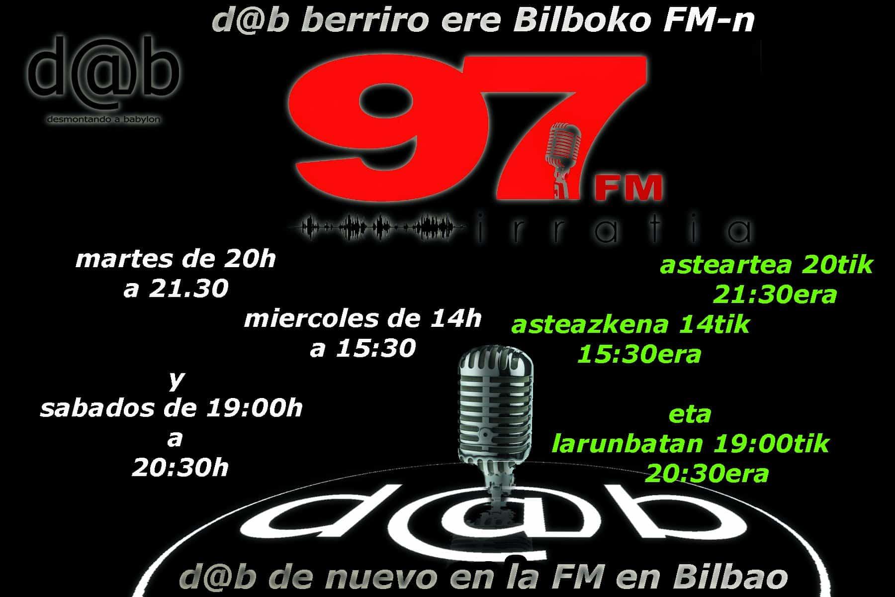 Desmontando a Babylon: d@b  radio  berriro  ere  Bilbo-ko  uhinetan