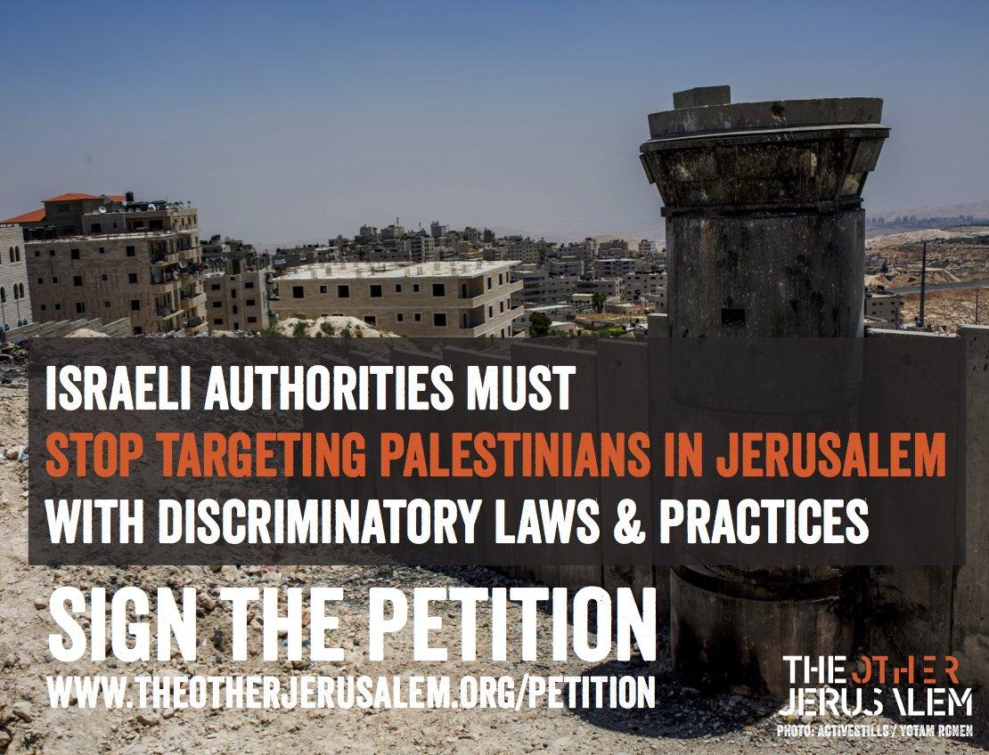 Mar de Fueguitos: la  discriminación  de  la  población  palestina  de  Jerusalén