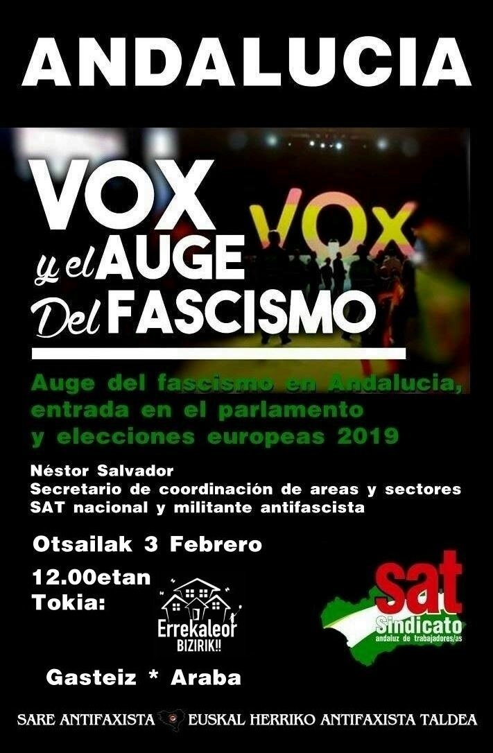 Suelta la olla: Auge  del  fascismo  en  Andalucía