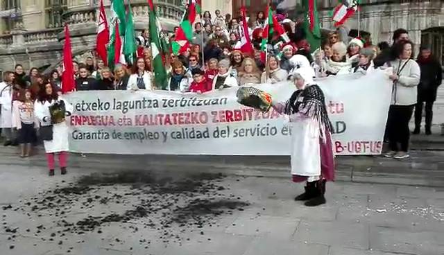 Suelta la olla: Servicio a domicilio de Bizkaia en huelga