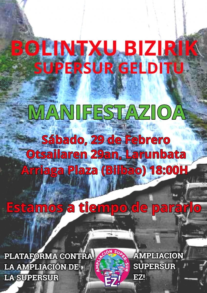 Suelta la olla: Manifestación  para  salvar  Bolintxu